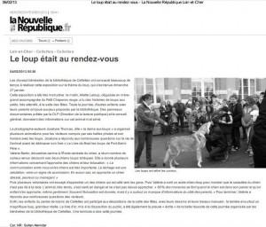 Article de presse traitant d'une exposition autour du loup